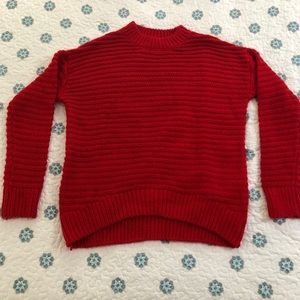 Chunky red sweater from H&M